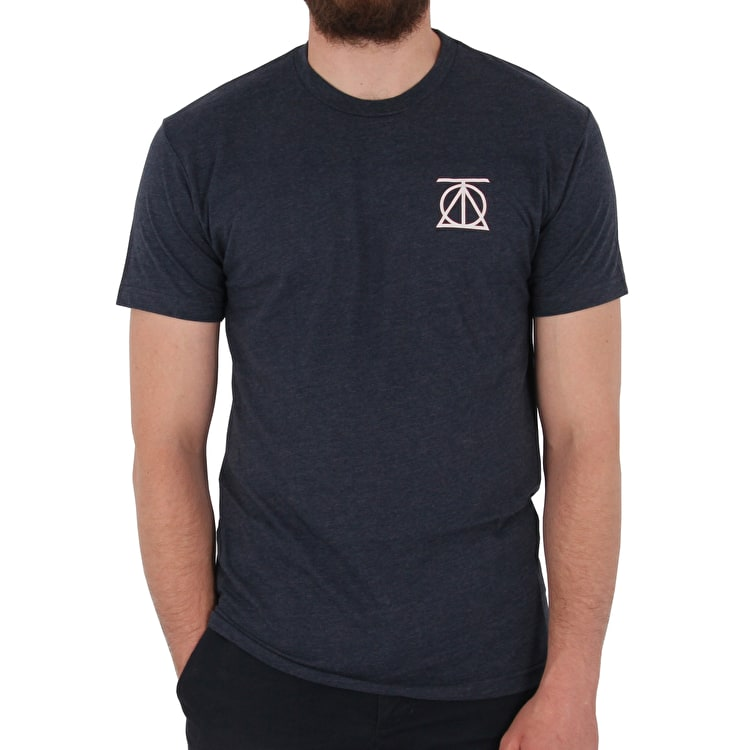 Theories Crest T shirt - Navy/White