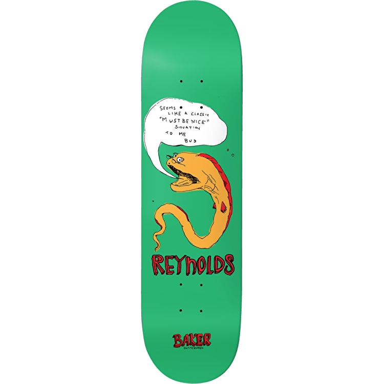 Baker Fish Talk Reynolds Skateboard Deck - 8""
