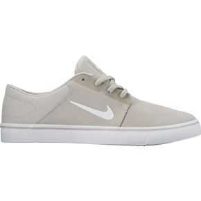 Nike SB Portmore Skate Shoes - Pale Grey/White