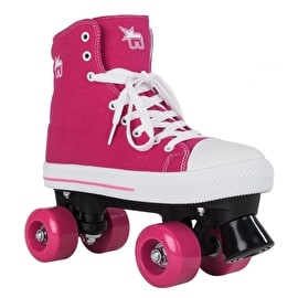 B-Stock Rookie Canvas Quad Roller Skates- Pink -Size - UK 4 (Box Damage)