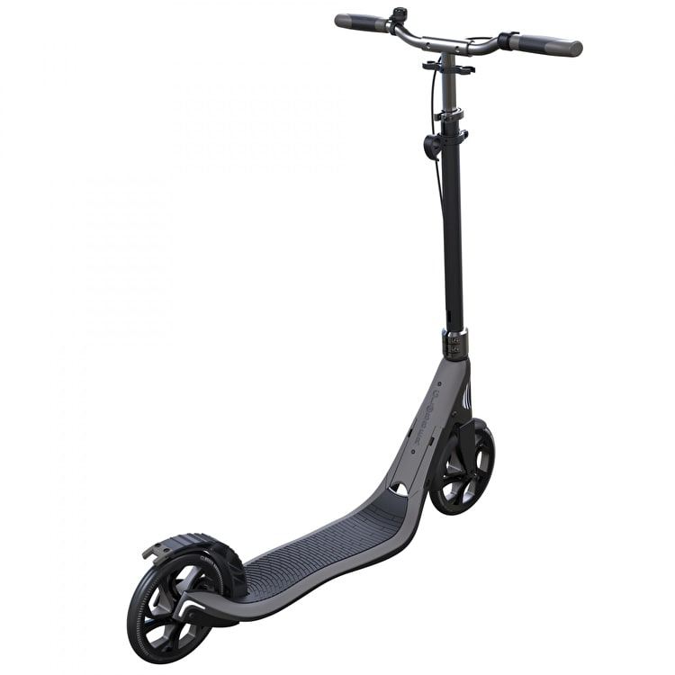 Globber One NL 205 Deluxe Complete Commuter Scooter - Titanium/Lead Grey