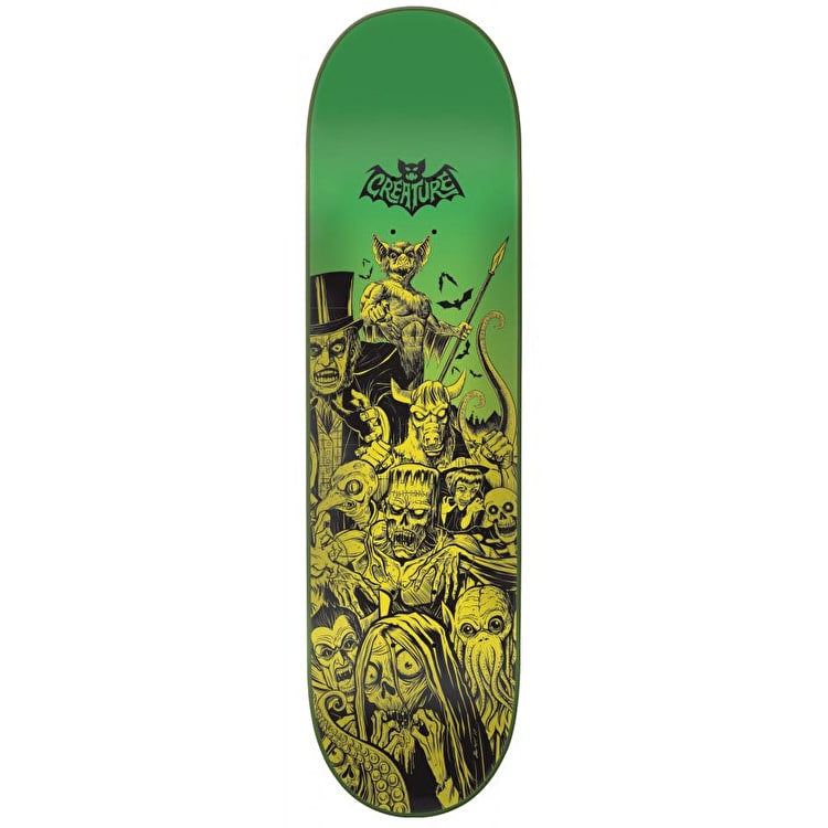 Creature Batty Skateboard Deck - Yellow/Green 8.3""