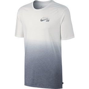 Nike SB Dri Blend Dip Dye T-Shirt - White/Cool Grey