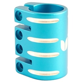Blazer Pro Quad Bolt Collar Clamp with Shim - Blue