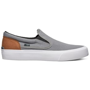 DC Trase Slip-On TX Shoes - Grey/Black/Brown