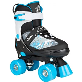 Rookie Ace Quad Adjustable Roller Skates - Black/Blue