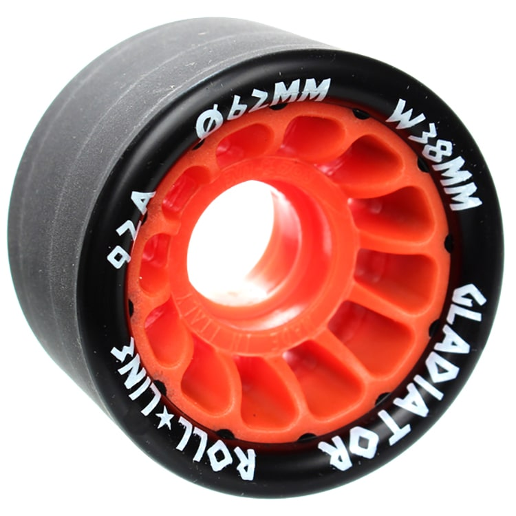 Roll Line Gladiator Roller Derby Wheels 63mm 92a - Orange