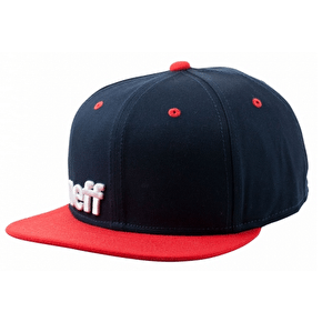 Neff Daily Snapback Cap - Navy/Red/White