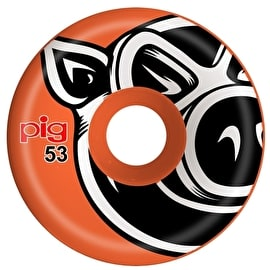 Pig 3D Conical Skateboard Wheels - Orange 54mm