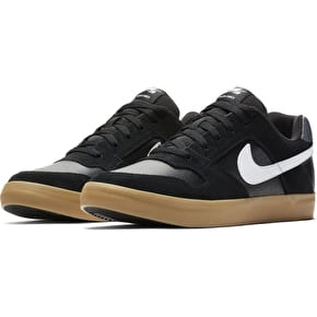 Nike SB Delta Force Vulc Skate Shoes - Black/White