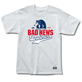 Grizzly x Heel Bruise BNB Stacked Logo T-Shirt - White