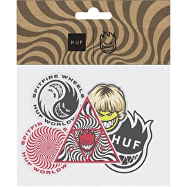 Huf X Spitfire Skateboard Sticker Pack