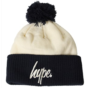 Hype Bobble Beanie - Cream/Navy