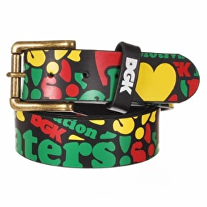 DGK Haters Collage PU Belt - Rasta