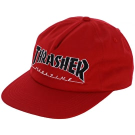 Thrasher Outlined Snapback Cap - Red