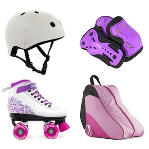 SFR Vision II Quad Roller Skates Bundle - Purple