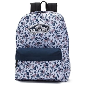 Vans Realm Backpack - White Ditsy Blooms