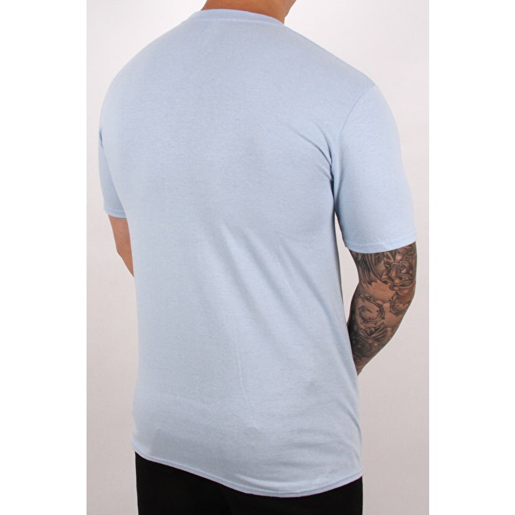 SkateHut SKTHT Drip T Shirt - Light Blue