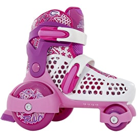 SFR Stomper Adjustable Junior Girl's Skates - White/Pink