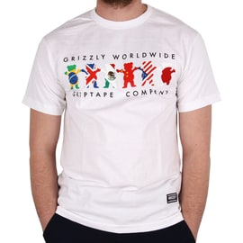 Grizzly Worldwide Tribe T shirt - White