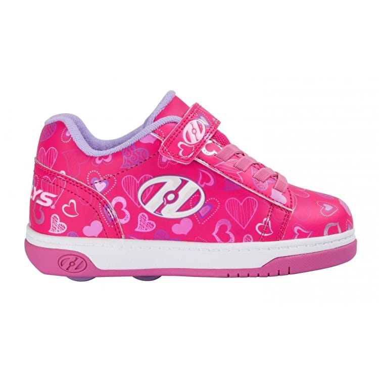 Heelys X2 Dual Up - Hot Pink/White/Hearts