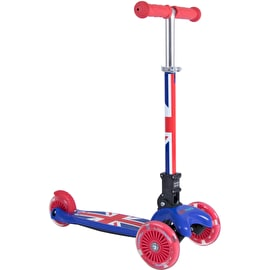 Kiddimoto U-Zoom - Union Jack Complete Scooter - Red/Blue/White
