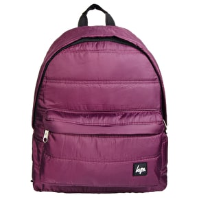 Hype Quilted Backpack-Burgundy