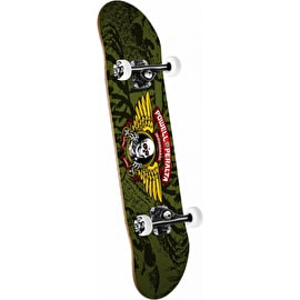 Powell Peralta Winged Ripper Complete Skateboard - Olive 7.5
