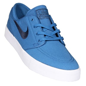 Nike SB Zoom Stefan Janoski Canvas Skate Shoes - Industrial Blue/Obsidian