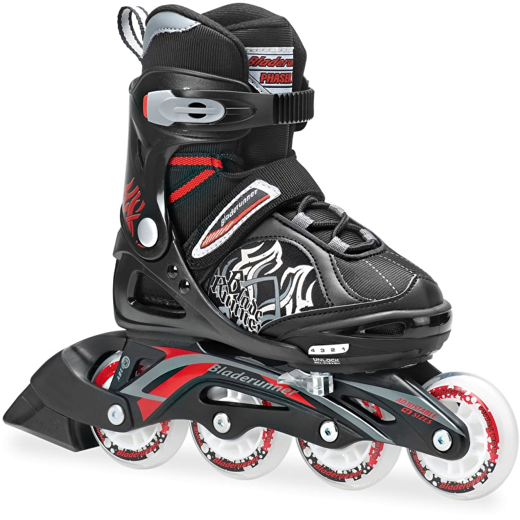 Bladerunner 2014 Phaser XR Skates - Black / Red