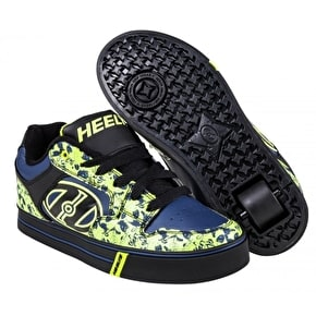 B-Stock Heelys Motion Plus - Black/Navy/Lime/Skulls - UK 1 (Box Damage)