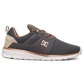 B-Stock DC Heathrow Skate Shoes - Charcoal Grey UK 9