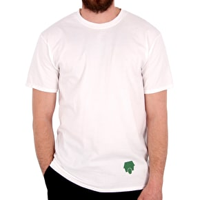 SkateHut Hut Dot Logo T-Shirt - White/Camo