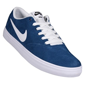 Nike SB Check Solar Skate Shoes - Industrial Blue/White