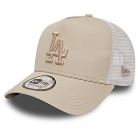 New Era Los Angeles Dodgers MLB 9FORTY League Womens Essential Trucker Cap - Stone/Stone
