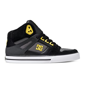 B-Stock DC Spartan High WC Shoes - Black/Yellow - UK 9 (Box Damage)