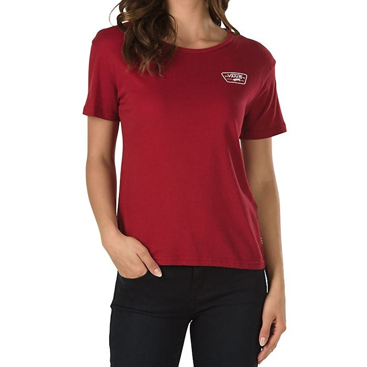 Vans Authentic Trap Womens T-Shirt - Red Dahlia