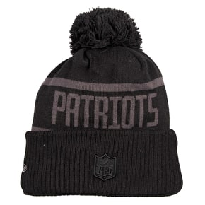 New Era NFL Black Collection Beanie - New England Patriots