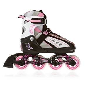 SFR Vortex Girls Adjustable Inline Skates - Black/Pink
