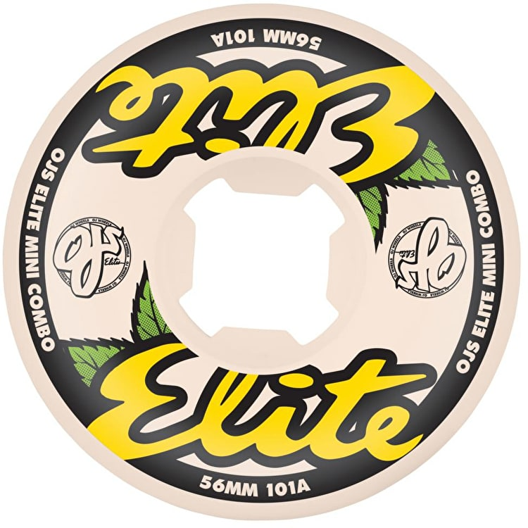 OJ Elites Mini Combo 101A Skateboard Wheels - Yellow 56mm (Pack of 4)