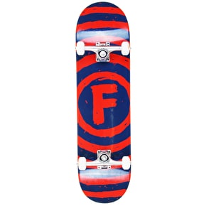 Foundation Vertigo Sketch Custom Skateboard - Cheapshots Red/Blue 8.25