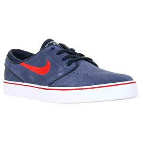 Nike SB Zoom Stefan Janoski Skate Shoes - Obsidian/University Red