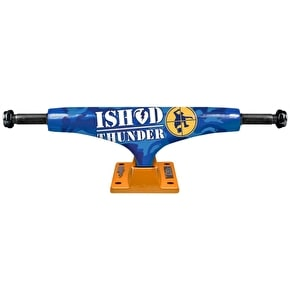 Thunder Hi 147 Lights Skateboard Trucks - Ishod Bum Rush II - Orange/Blue
