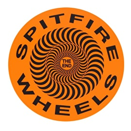 Spitfire Covert Classic Skateboard Sticker - Orange