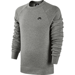 Nike SB Icon Crew - Grey Heather/Black