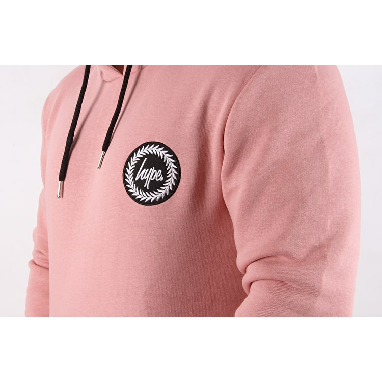 Hype Crest Pullover Hoodie - Pink