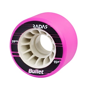 Radar Bullet 59mm Quad Derby Wheels 93A  Purple (4pk)