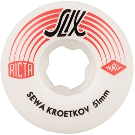 Ricta Sewa Kroetkov SLIX 99a Skateboard Wheels - White 51mm