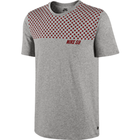 Nike SB Dri-FIT Polka Dot T-Shirt - Dark Grey Heather/Gym Red