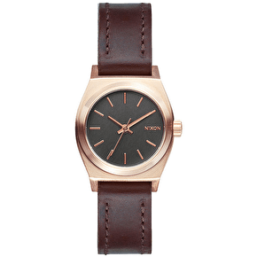 Nixon Small Time Teller Leather - Rose Gold